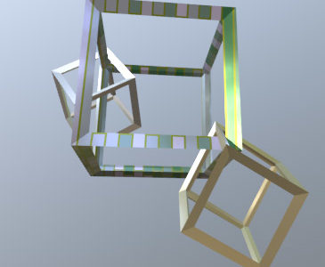 Blender 2.82 で遊ぶ・ワイヤ-フレ-ムモディファイア-